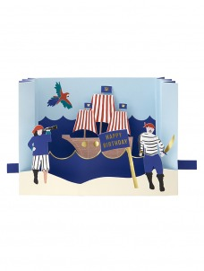 Meri Meri Κάρτα Γενεθλίων Pirate Diorama