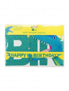 Γιρλάντα Happy Birthday Dinosaur