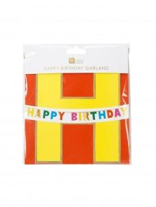 Γιρλάντα Rainbow Happy Birthday