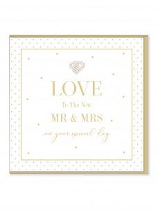 Ευχετήρια Κάρτα Love Mr & Mrs