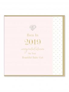 Ευχετήρια Κάρτα Born In 2019 Girl