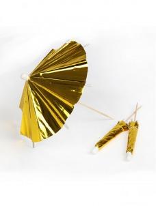 Διακοσμητικές Ομπρελίτσες Χρυσές