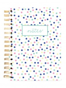 Small Pastel Dots -HARD COVER JOURNAL