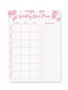 Pineapple Meal Plan - Large Notepad