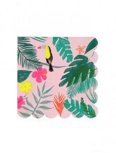 Χαρτοπετσέτα Μικρή Pink Tropical