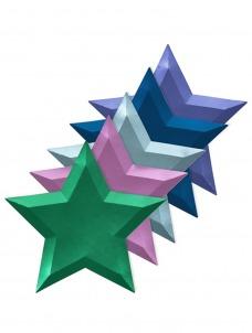 Meri Meri Πιάτο Metallic Foil Αστέρι