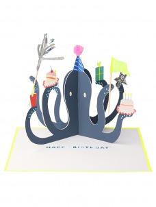 Meri Meri Ευχετήρια Κάρτα Party Octopus