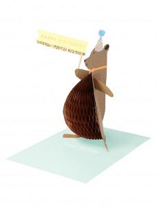 Meri Meri Ευχετήρια Κάρτα Honey Bear