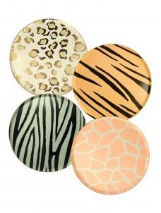 Meri Meri Πιάτο Γλυκού Safari Animal Print