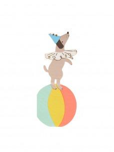 Meri Meri Χαρτοπετσέτα Circus Dog