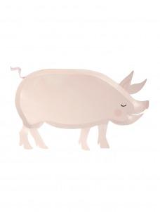 Meri Meri Πιάτο On the Farm Pig