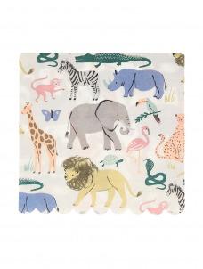Meri Meri Χαρτοπετσέτα Μεγάλη Safari Animals