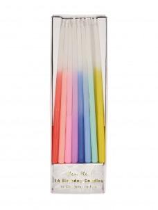 Meri Meri Κεριά Rainbow Dipped Tapered