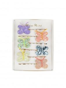 Meri Meri Hair Slides Glitter Butterfly
