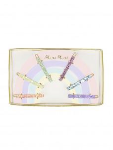 Meri Meri Κλιπ Μαλλιών Glitter Rainbow