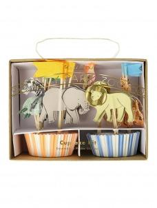 Meri Meri Cupcake Kit Safari Animals