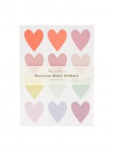 Meri Meri Αυτοκόλλητα Pastel Heart Glitter