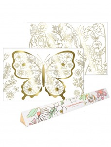 Meri Meri Colouring Posters Butterfly