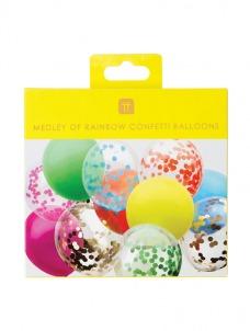 Talking Μπαλόνια Rainbow Brights Confetti