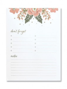 Large Notepad - Flower Boarder