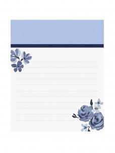 Jotter Notepad-Blue Floral