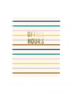 Σημειωματάριο Σπιράλ Office Hours Stripes