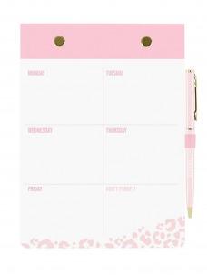 Σετ Σημειωματάριο-Στυλό Pink Leopard