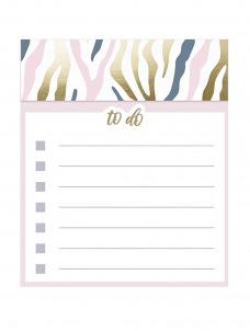 Jotter Notepad-Pink Navy Zebra