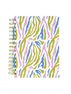 Σημειωματάριο Σπιράλ Pink Navy Zebra