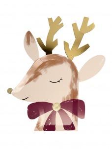 Meri Meri Πιάτο Reindeer With Bow