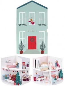 Meri Meri Εορταστικό Ημερολόγιο-Festive House Paper Craft