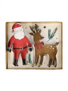 Meri Meri Cookie Cutters Santa & Reindeer