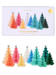 Meri Meri Διακοσμητικά Χριστουγεννιάτικα Δέντρα Rainbow Honeycomb