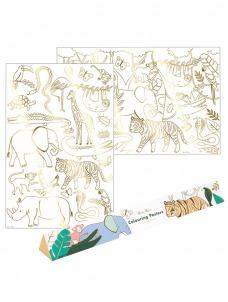 Meri Meri Colouring Posters Ζούγκλα