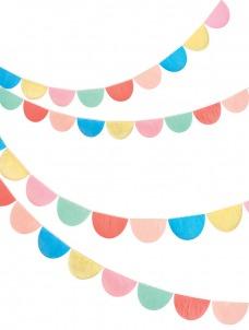 Meri Meri Γιρλάντα Rainbow Tissue Paper Scallop