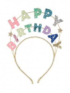 Meri Meri Στέκα Happy Birthday Glitter