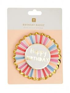 Talking Κονκάρδα Happy Birthday Pastel