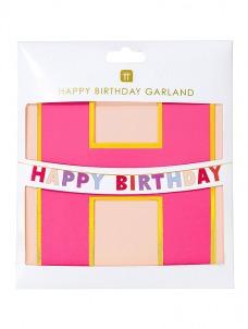 Talking Γιρλάντα Happy Birthday Ροζ