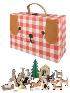 Meri Meri Εορταστικό Ημερολόγιο-Wooden Dog Suitcase