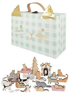 Meri Meri Εορταστικό Ημερολόγιο-Wooden Cat Suitcase
