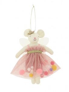 Meri Meri Στολίδι Δέντρου Pink Pompom Mouse