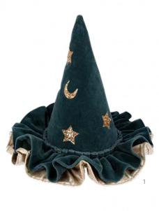 Meri Meri Καπέλο Μάγισσας Βελούδινο Μπλε