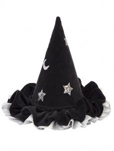 Meri Meri Καπέλο Μάγισσας Βελούδινο Μαύρο