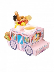 Χάρτινο tray φαγητού με θέμα άμαξας πριγκίπισσας
