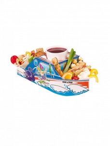 Χάρτινο tray φαγητού με θέμα καράβι – θάλασσα