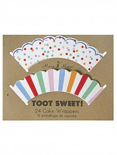 Meri Meri Cupcake wrappers Toot Sweet