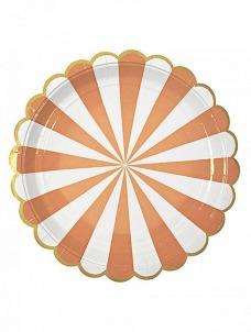 Meri Meri Πιάτο φαγητού TS Orange Stripe