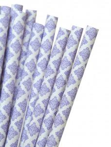 Καλαμάκια χάρτινα λιλά damask