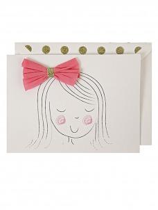 Meri Meri Girl's Bow Card