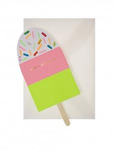 Meri Meri Neon Ice Cream Card